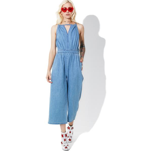 Glamorous What A Feelin' Denim Jumpsuit