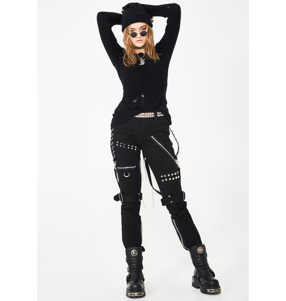 Tripp NYC Stud And Ring Bondage Pants
