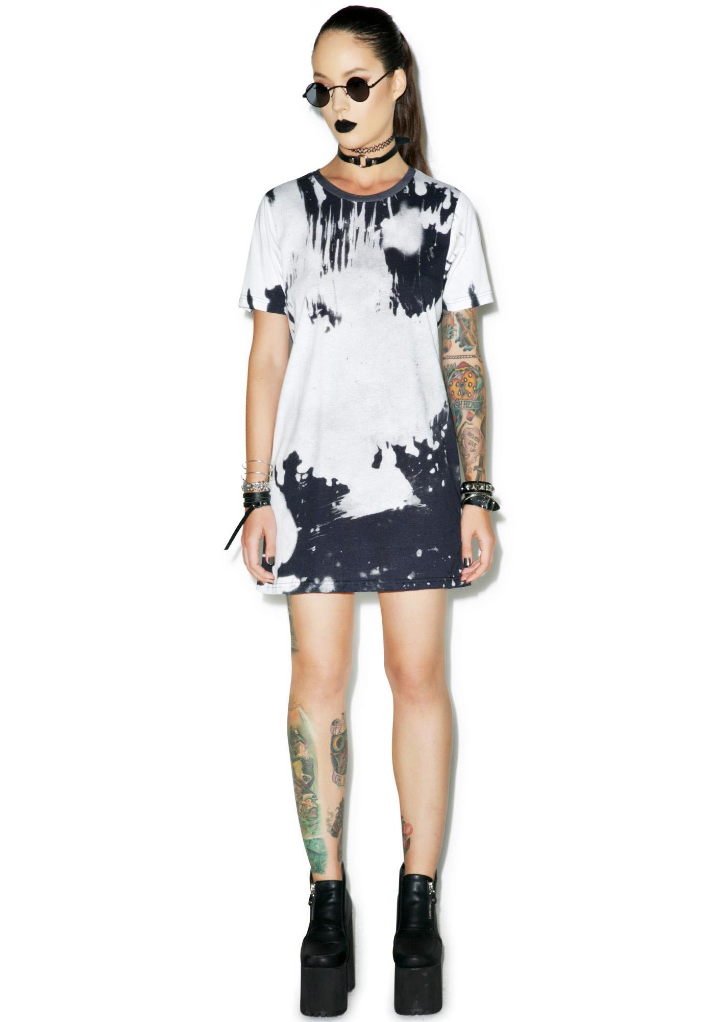 Disturbia Bleach Tee Dress