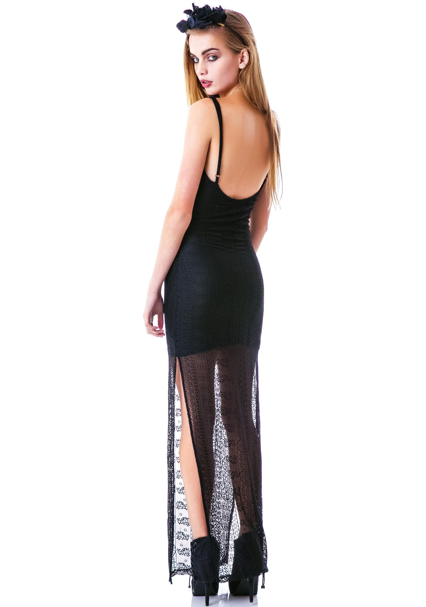 The Mourning Lace Maxi Dress