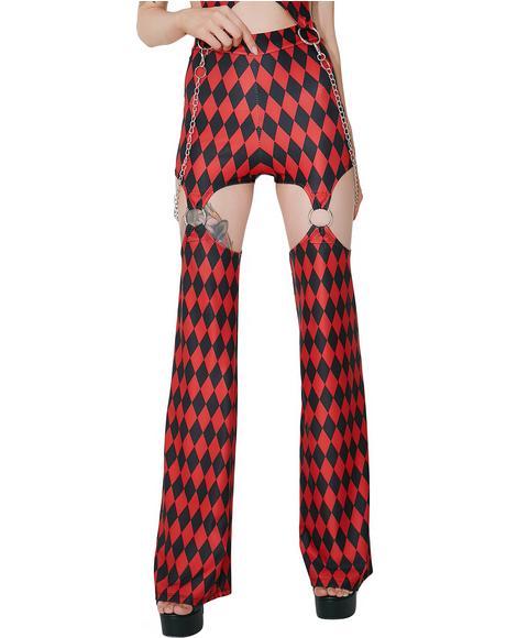 Harlequin Vixen Garter Pants