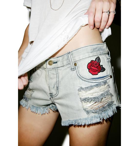 Every Rose Distressed Shorts