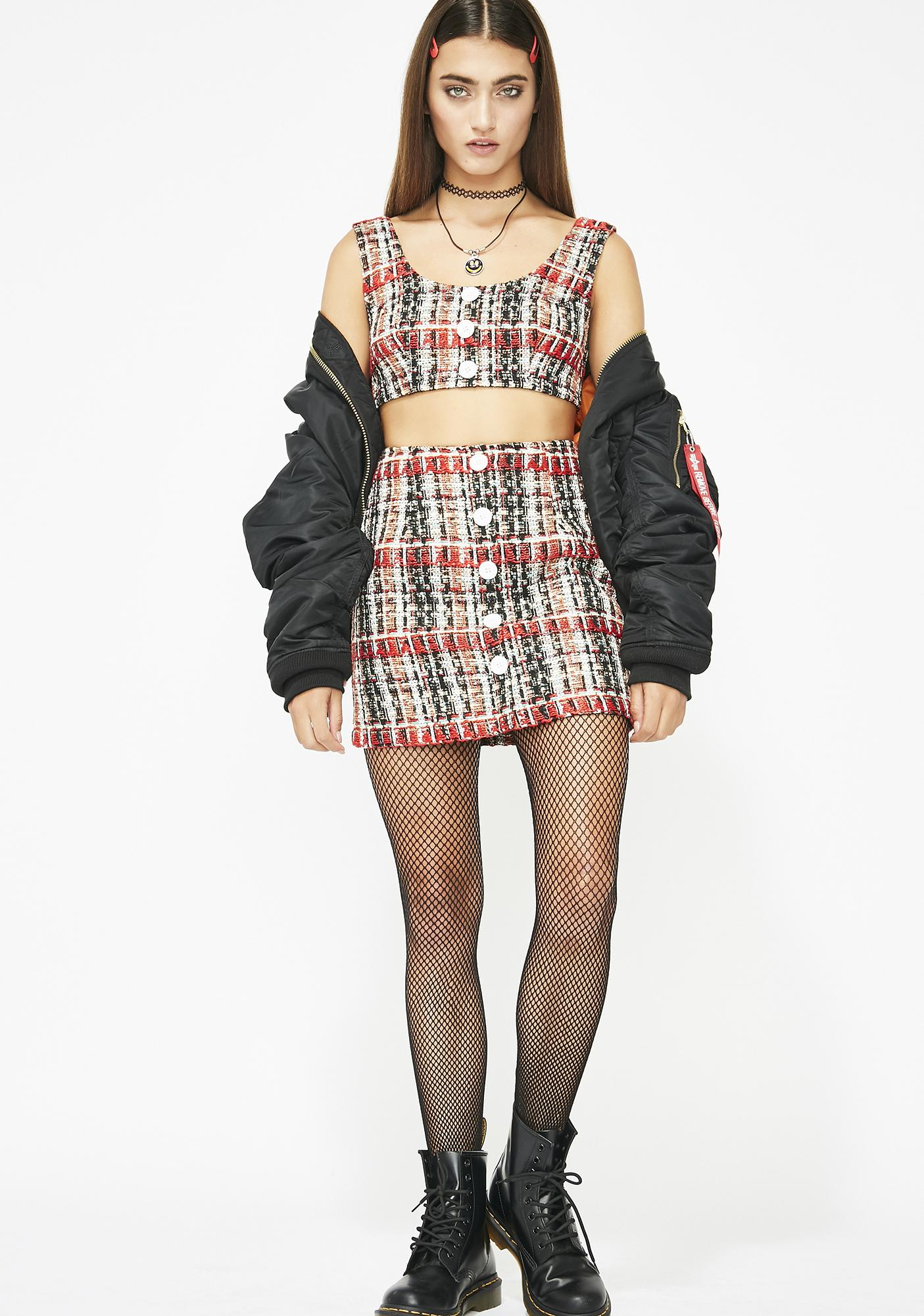 Clueless Who Tweed Top