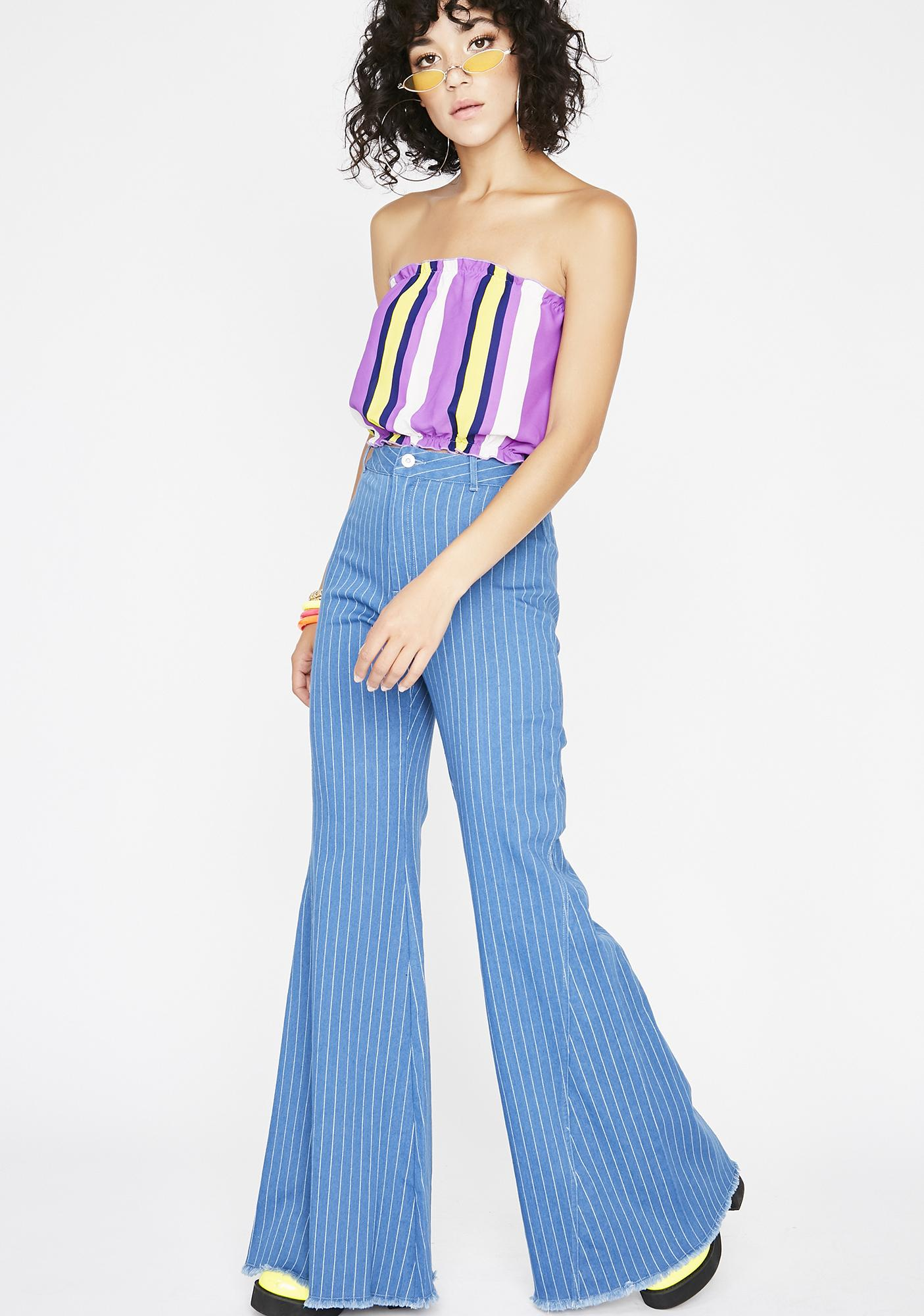 Funky Fire Wide Leg Pants