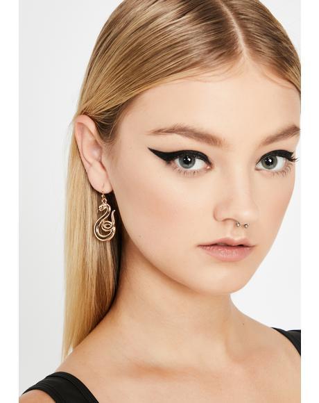 Goldie Charm Me Snake Earrings