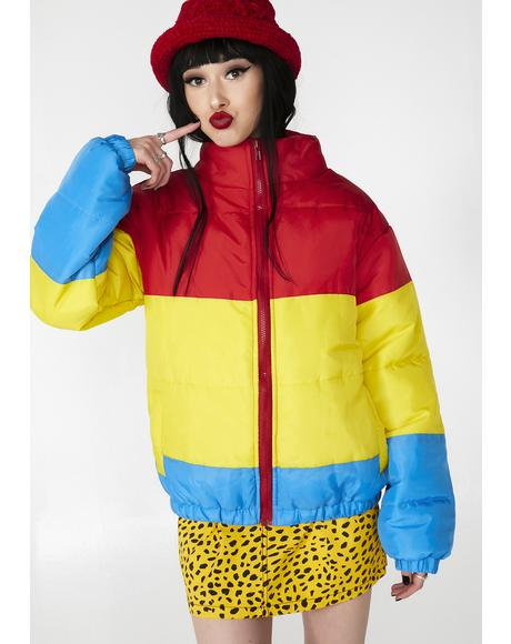 Rainbow Puffer Jacket