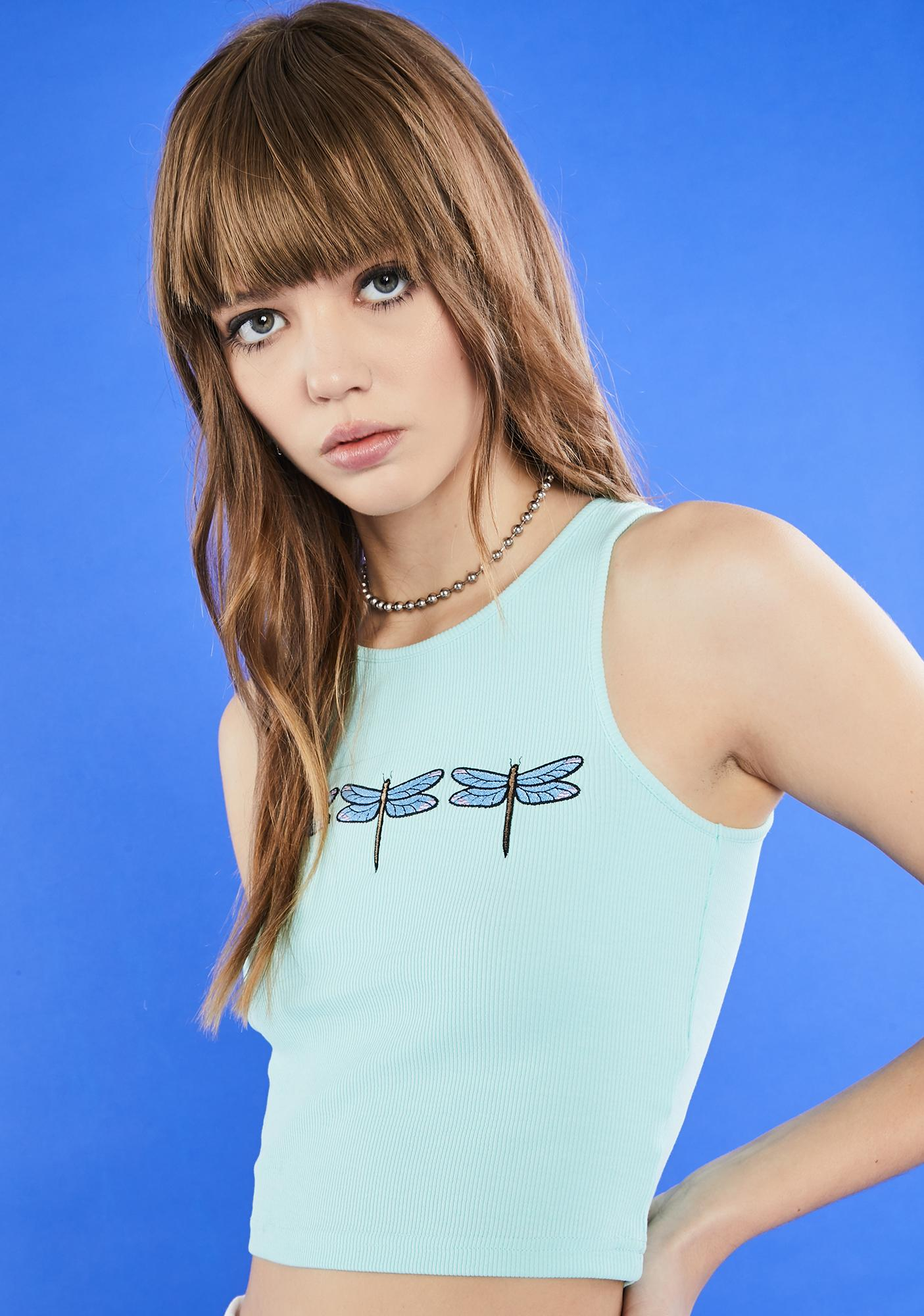 dELiA*s by Dolls Kill Fly With Me Crop Tank