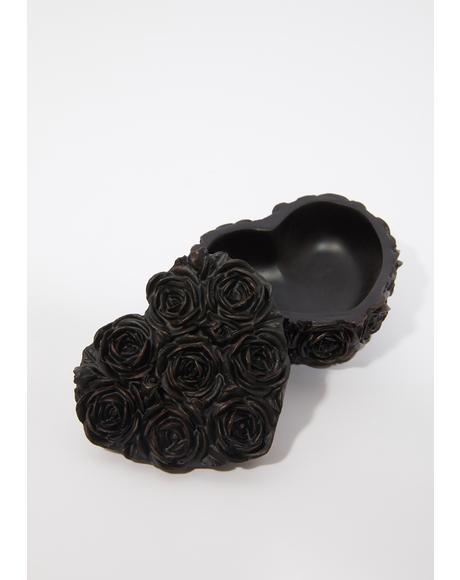 Black Rose Heart Box