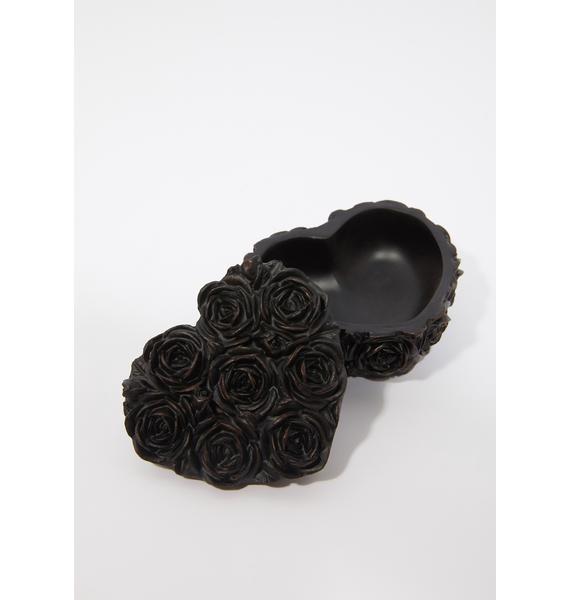 Alchemy England Black Rose Heart Box