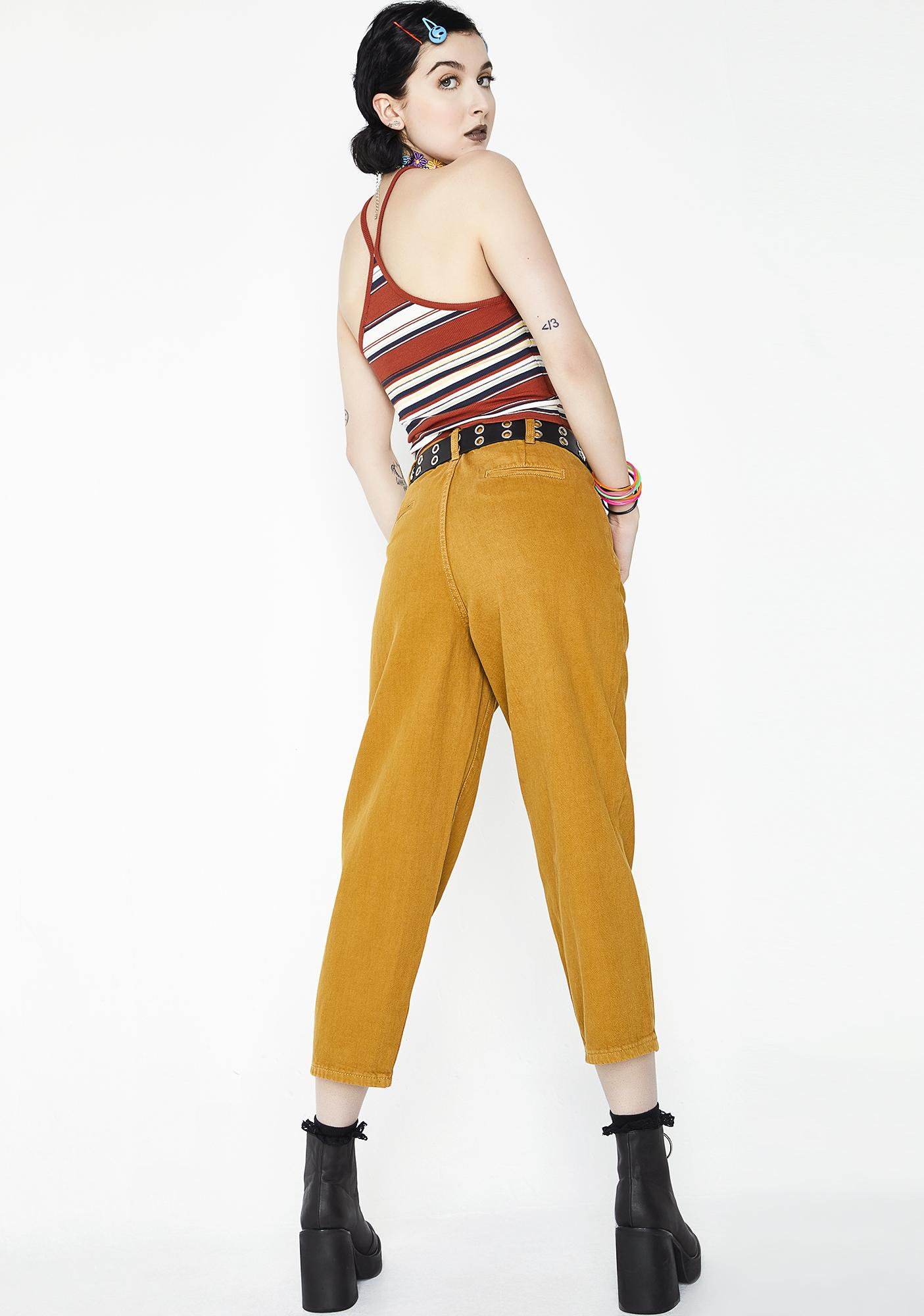 Momokrom Wide Leg Burnt Jeans