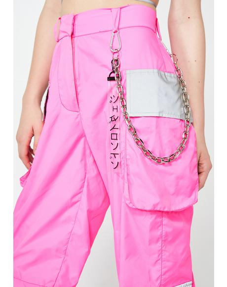 Neon Reflectionz Cargo Pants