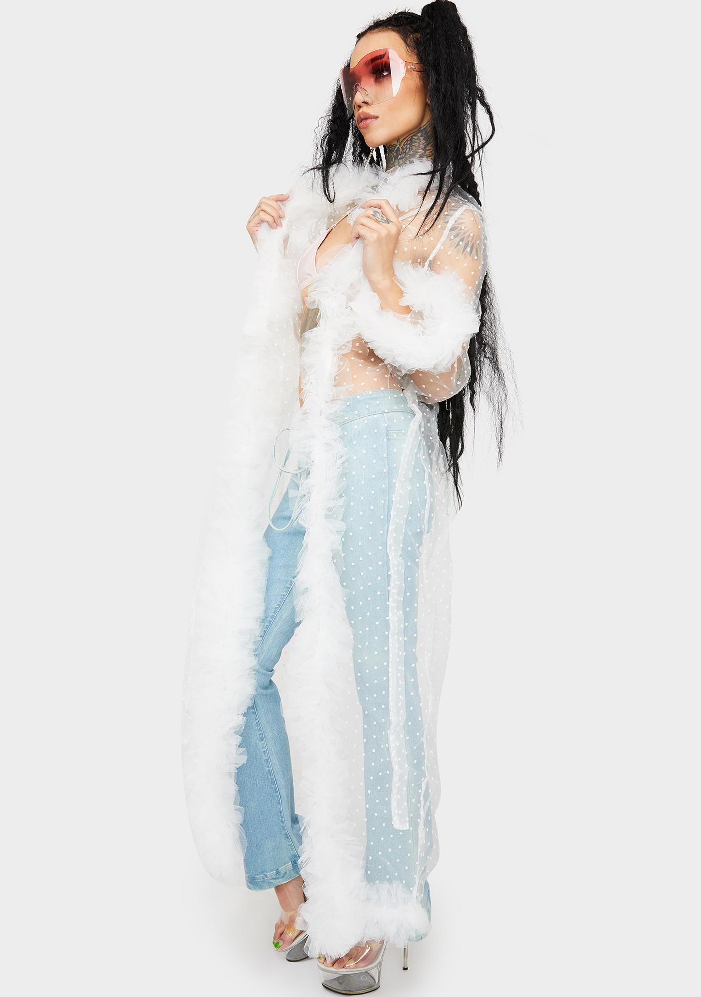 Walk Through Heaven Ruffle Robe