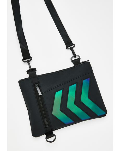 Let'z Rewind Reflective Crossbody Bag