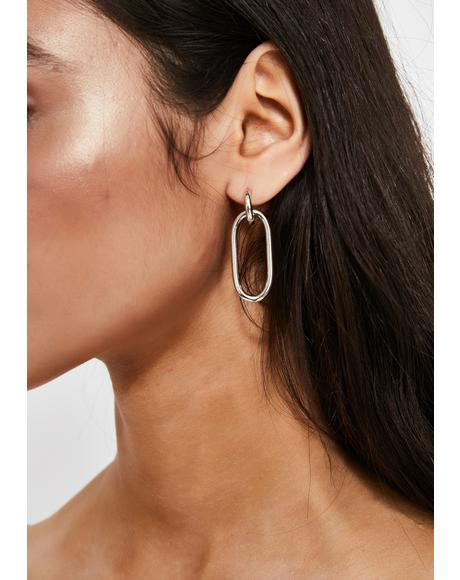 Click The Link Chain Earrings