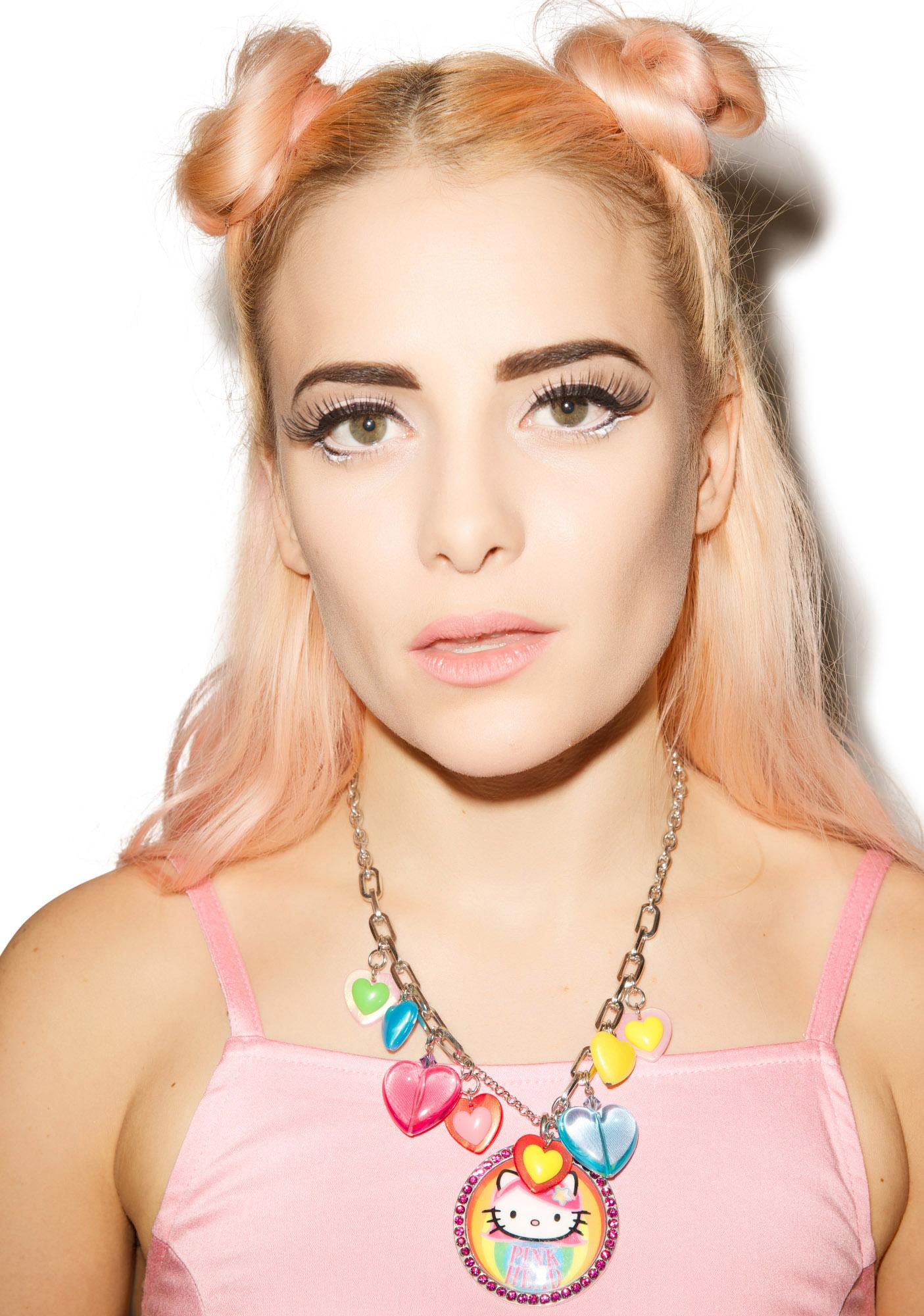 Tarina Tarantino Pink Head Multicharm Necklace