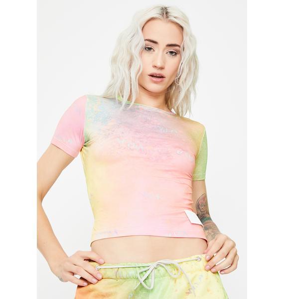 W.I.A Aquarelle Reversible Tie Dye Top