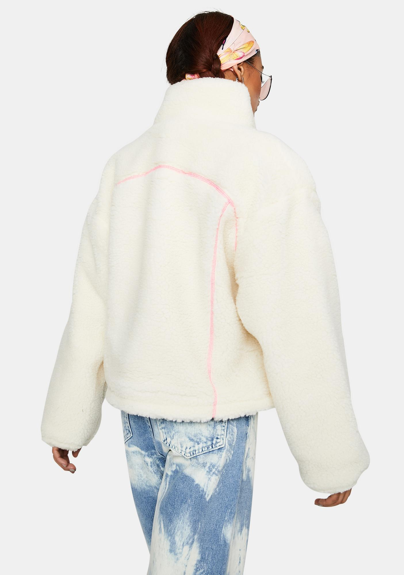 ZEMETA Milk Drop Fleece Jacket