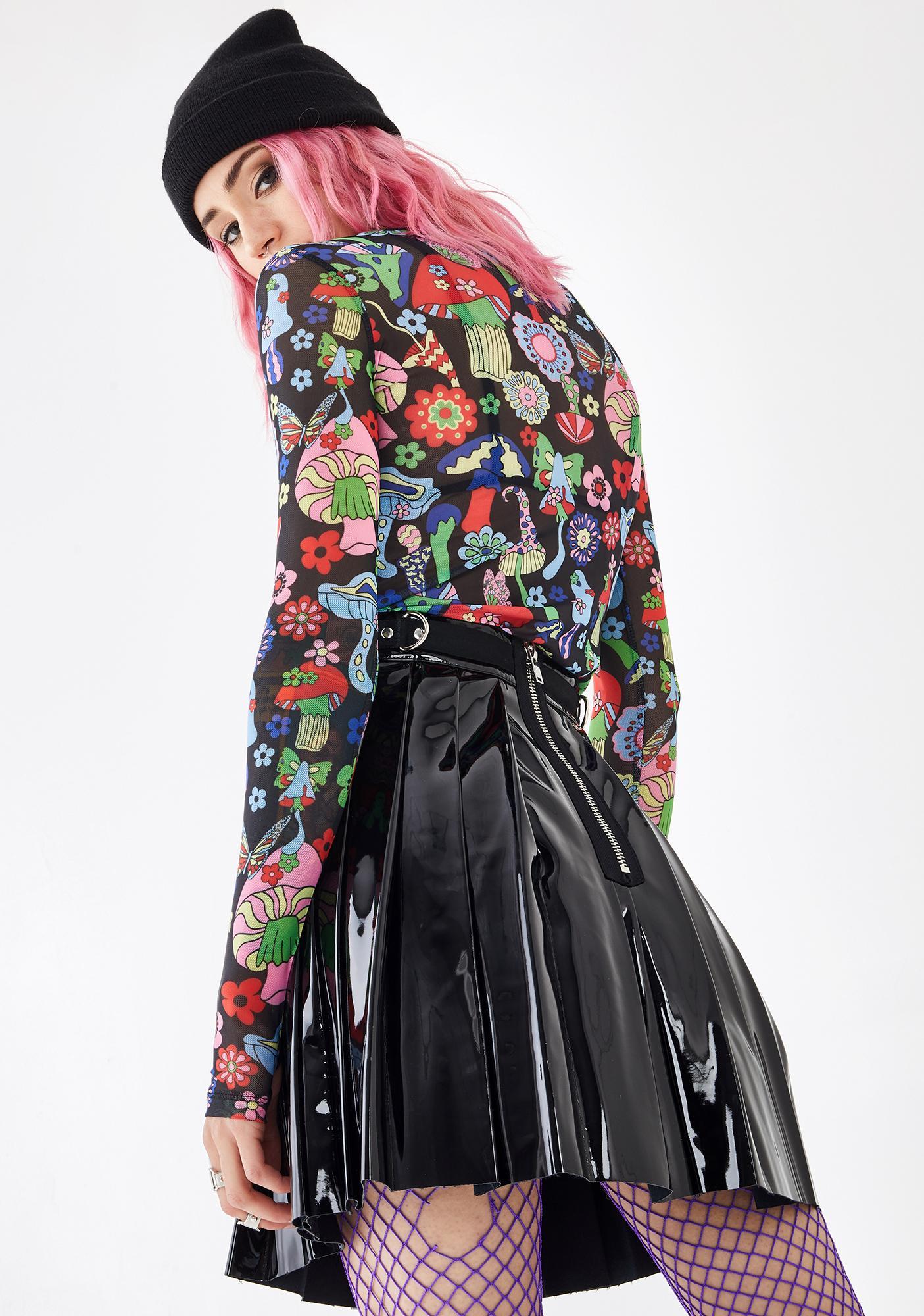Current Mood Killer Dress Code PVC Skirt