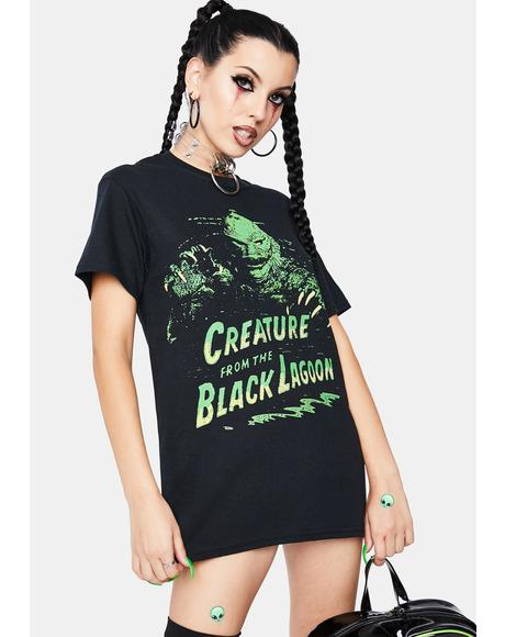 Green Creature Graphic Tee