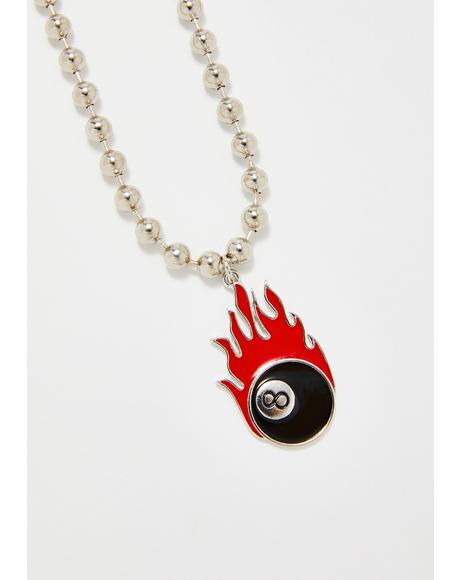 Devil's Chance 8 Ball Necklace