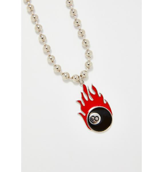 Devil's Chance 8 Ball Necklace