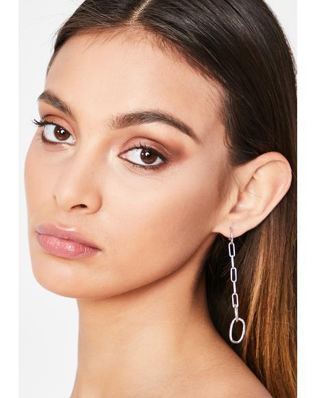 Stuck In My Ways Chain Earrings