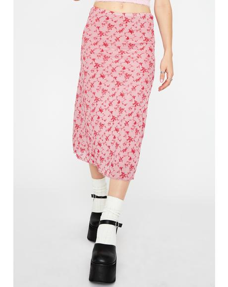 Love Bloom Taura Midi Skirt