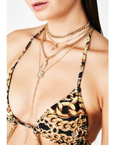 Bow Down Beezie Layered Necklace
