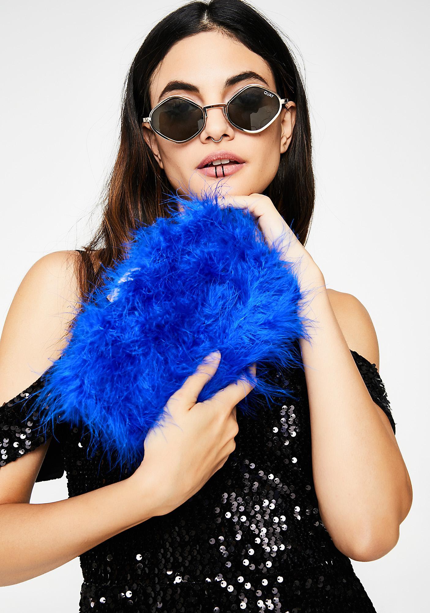 Sapphire Tweetie Fluffy Clutch