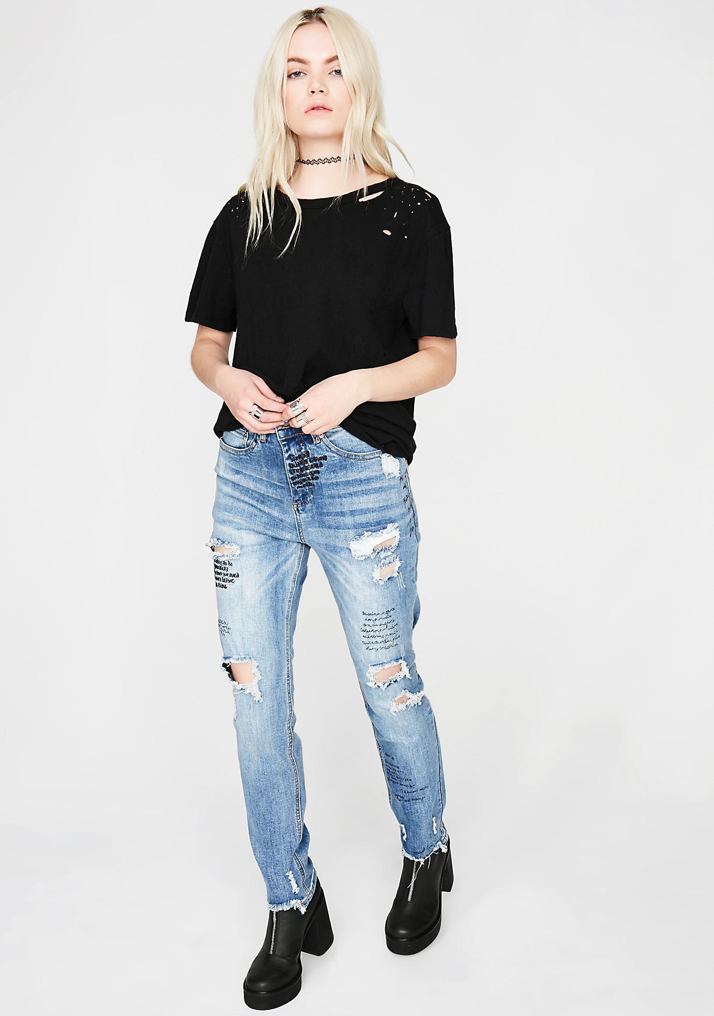 Take Notez Distressed Jeans