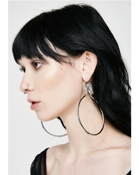 In A Flash Hoop Earrings