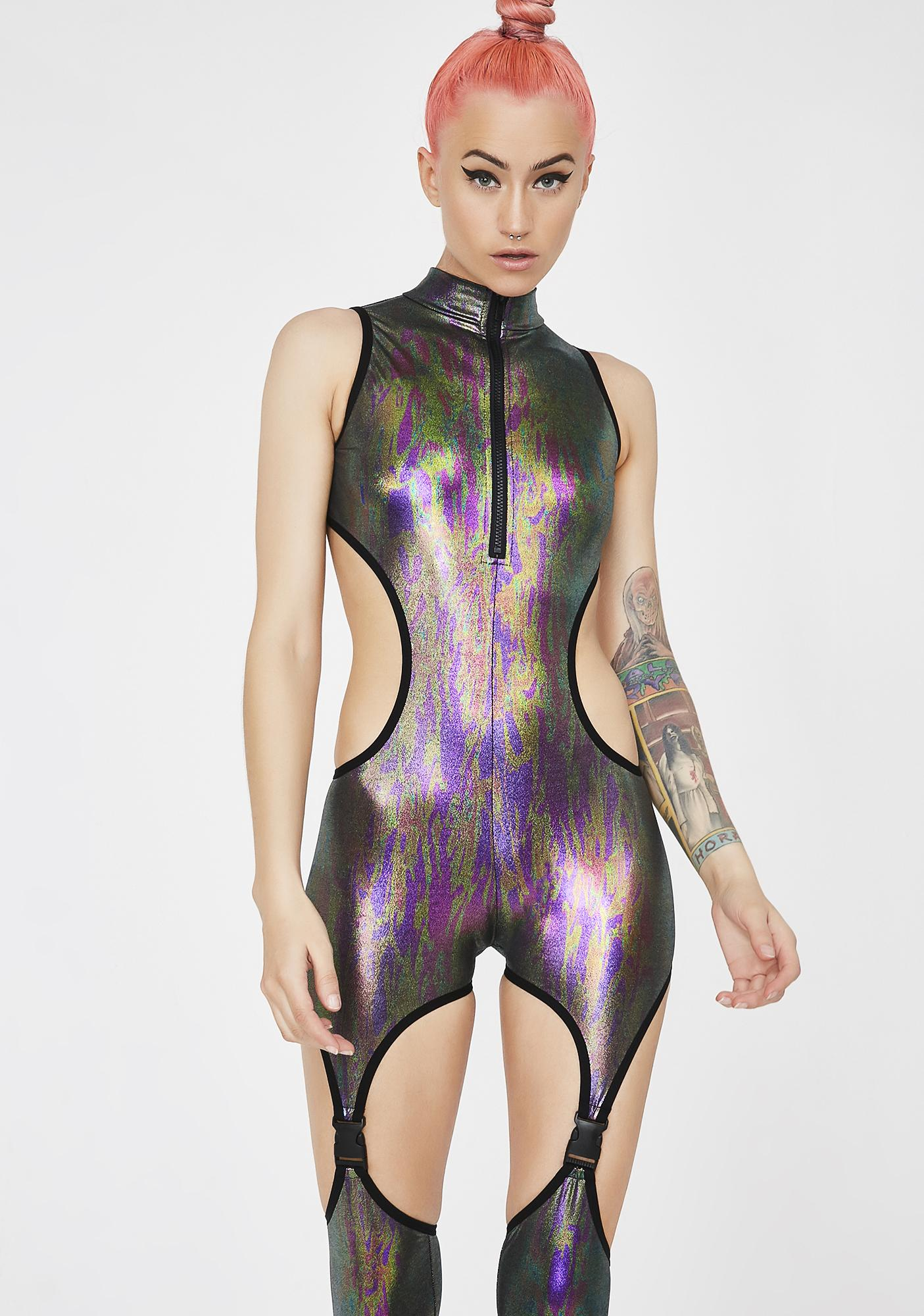 Club Exx Deadly Darkstep Catsuit