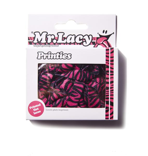 Mr. Lacy Wild Thing Zebra Shoelaces