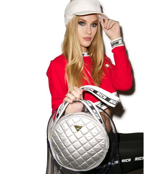 Joyrich Silver Sheen Shoulder Bag
