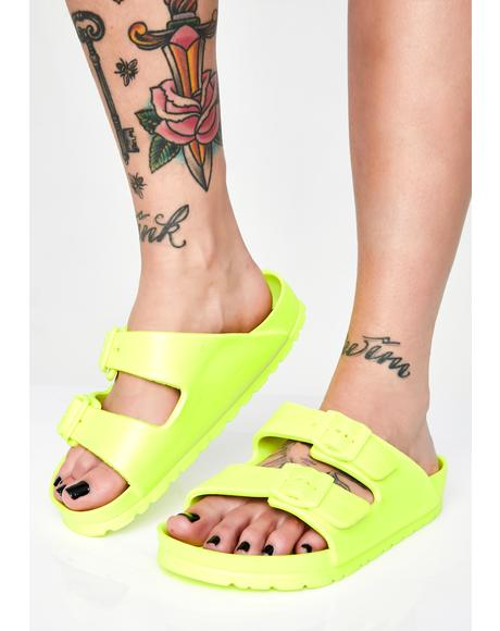 Electric Beach Buckle Sandals