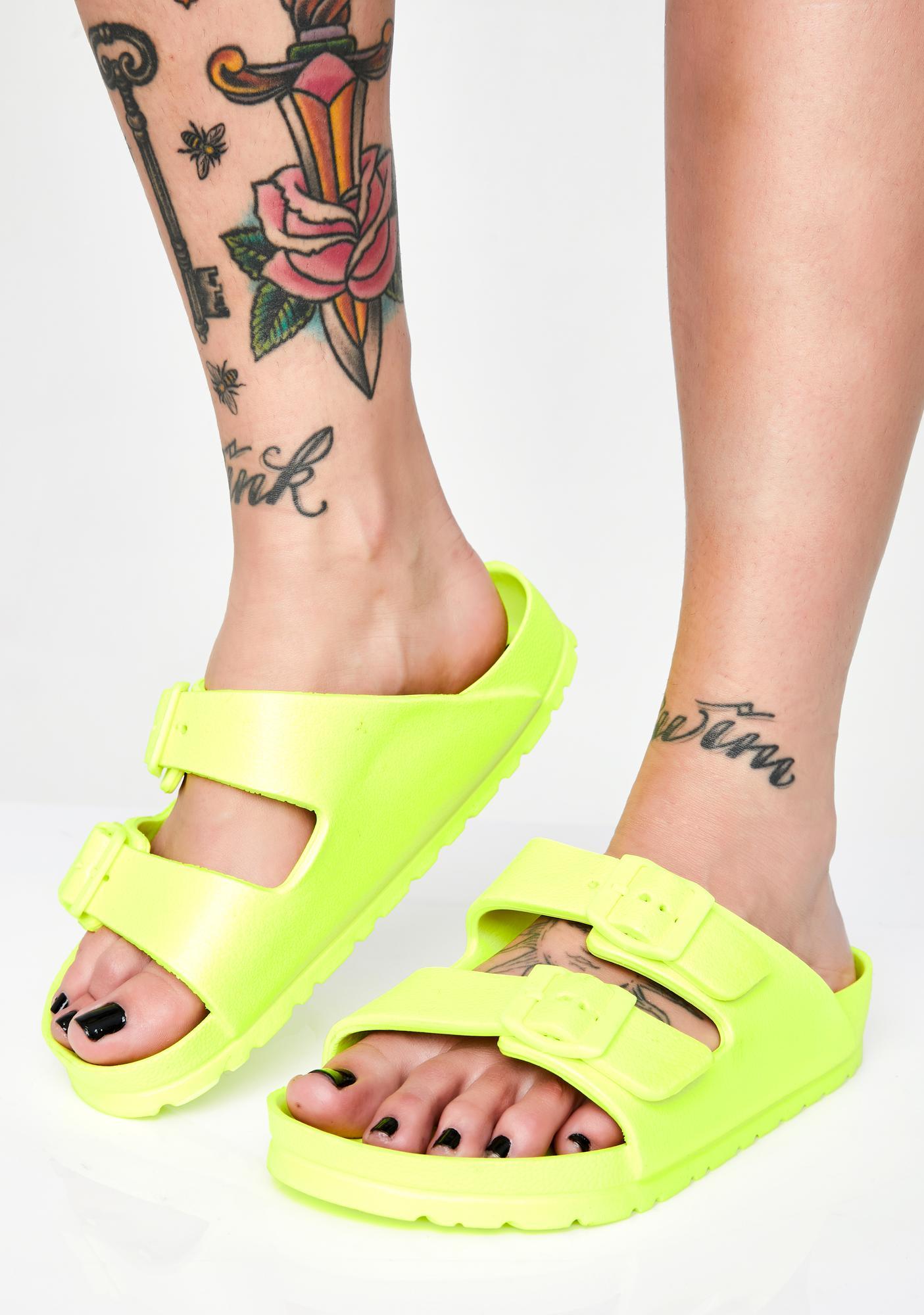 Electric Beach Buckle Sandals
