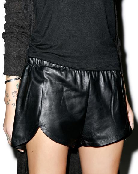 Vesna Leather Shorts