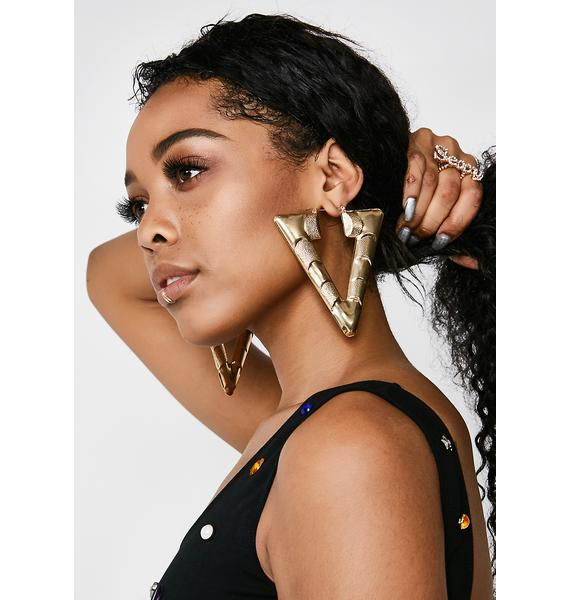 Wild Tingz Triangle Earrings