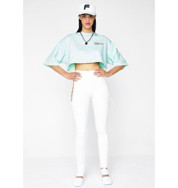 PUMA FENTY PUMA By Rihanna Cropped Crew Neck T-Shirt