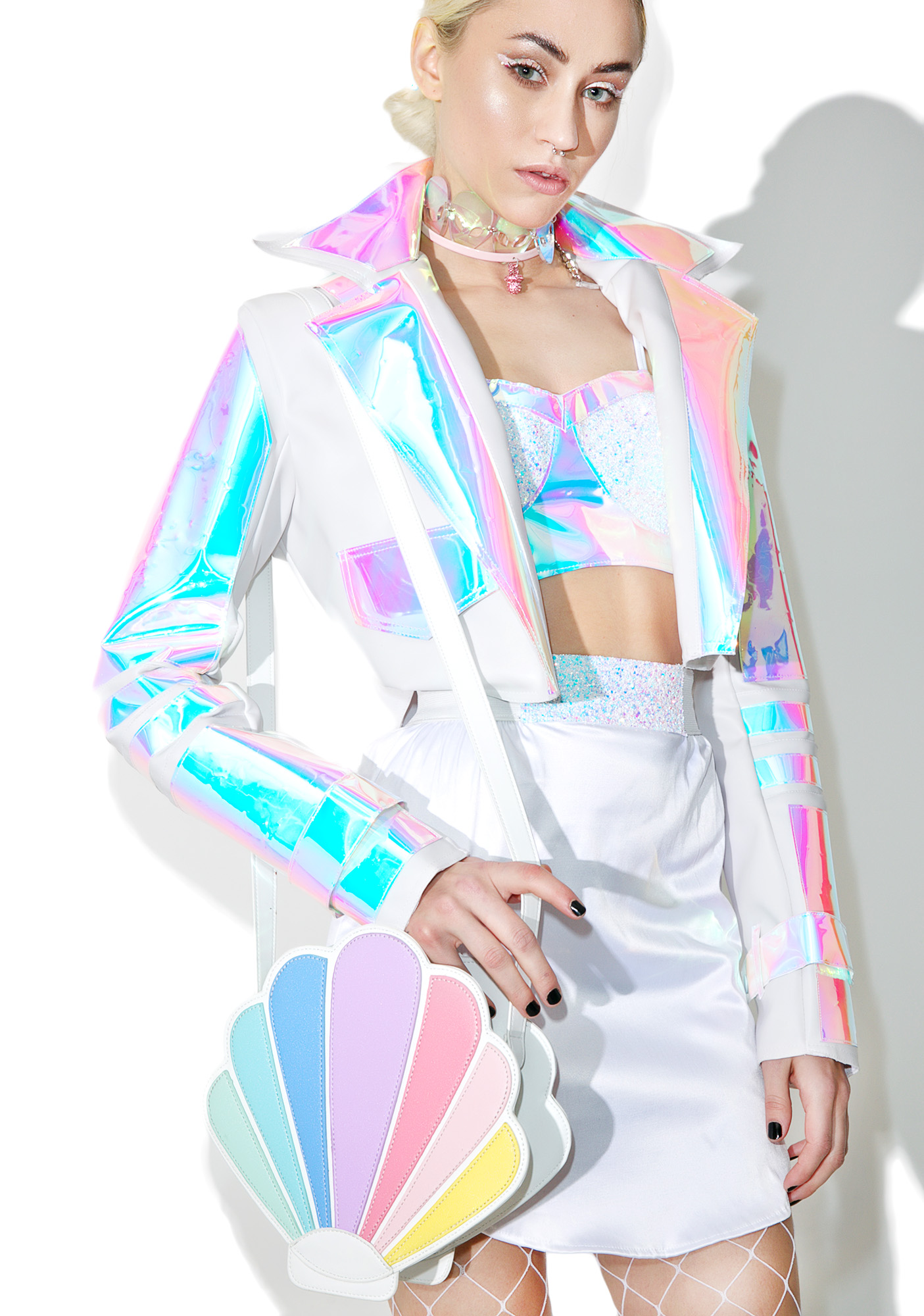 Pastel Seashell Crossbody Bag