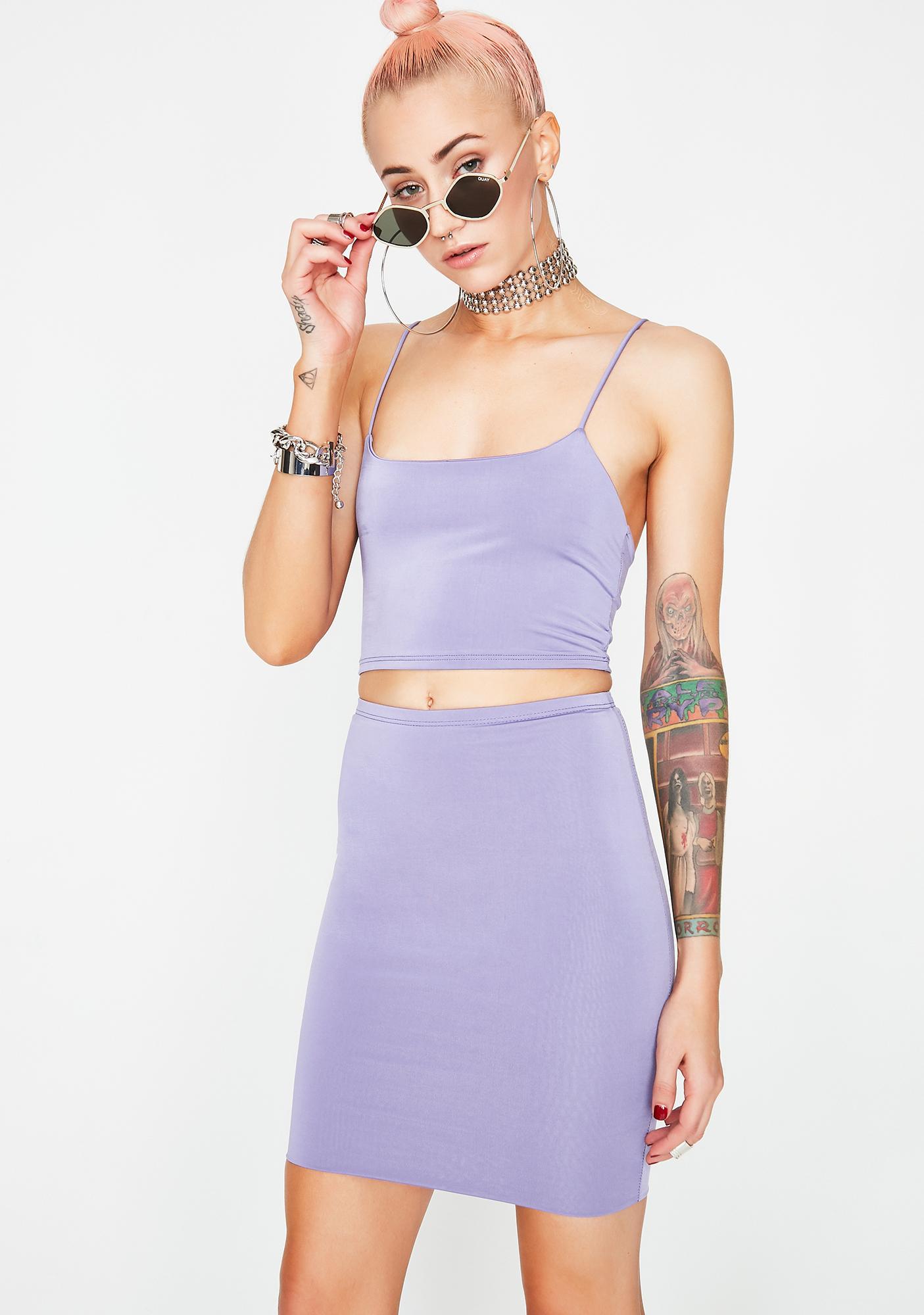 Lilac Dangerous Liaisons Bodycon Set