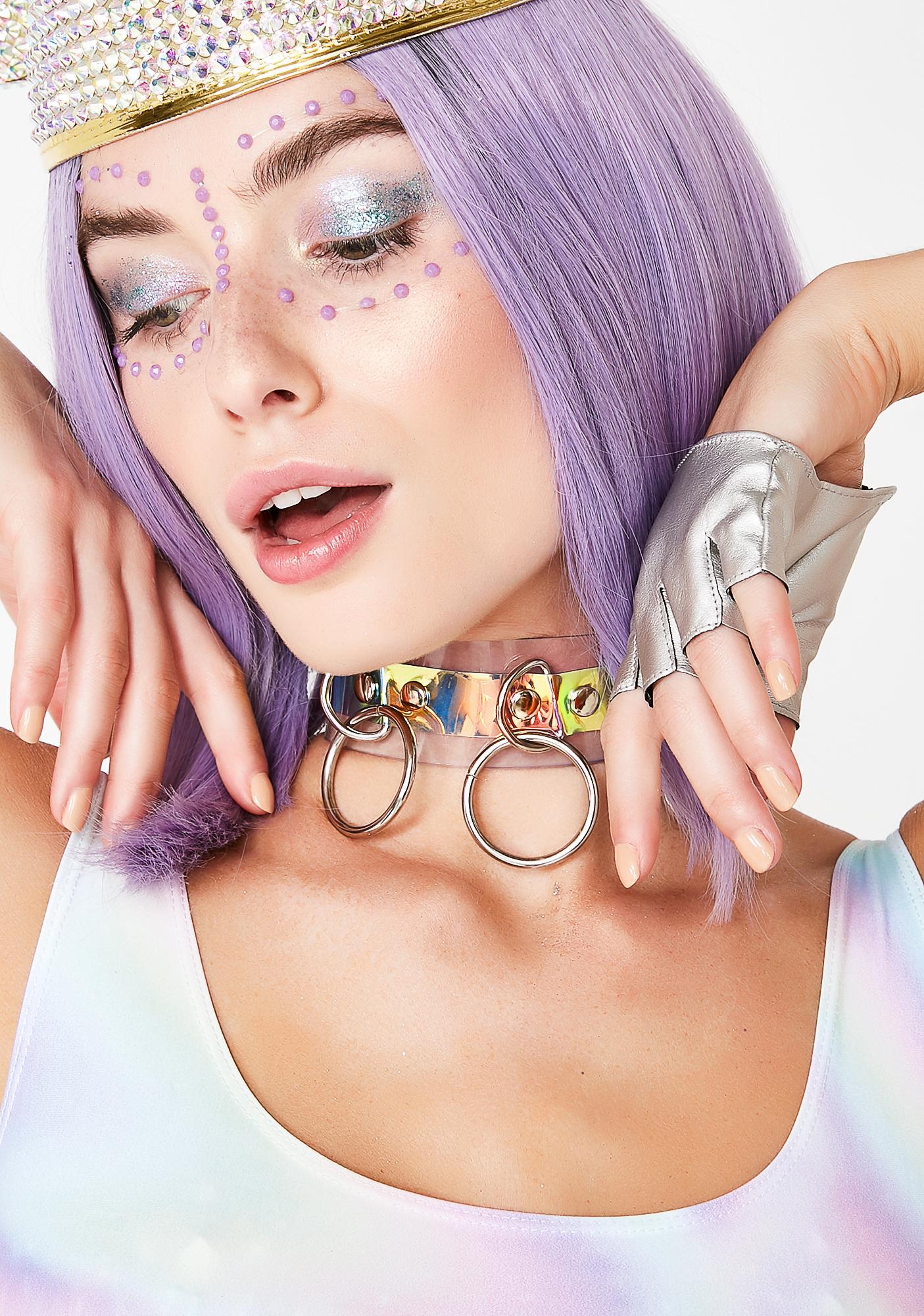Apatico Holographic Triple O Choker Collar
