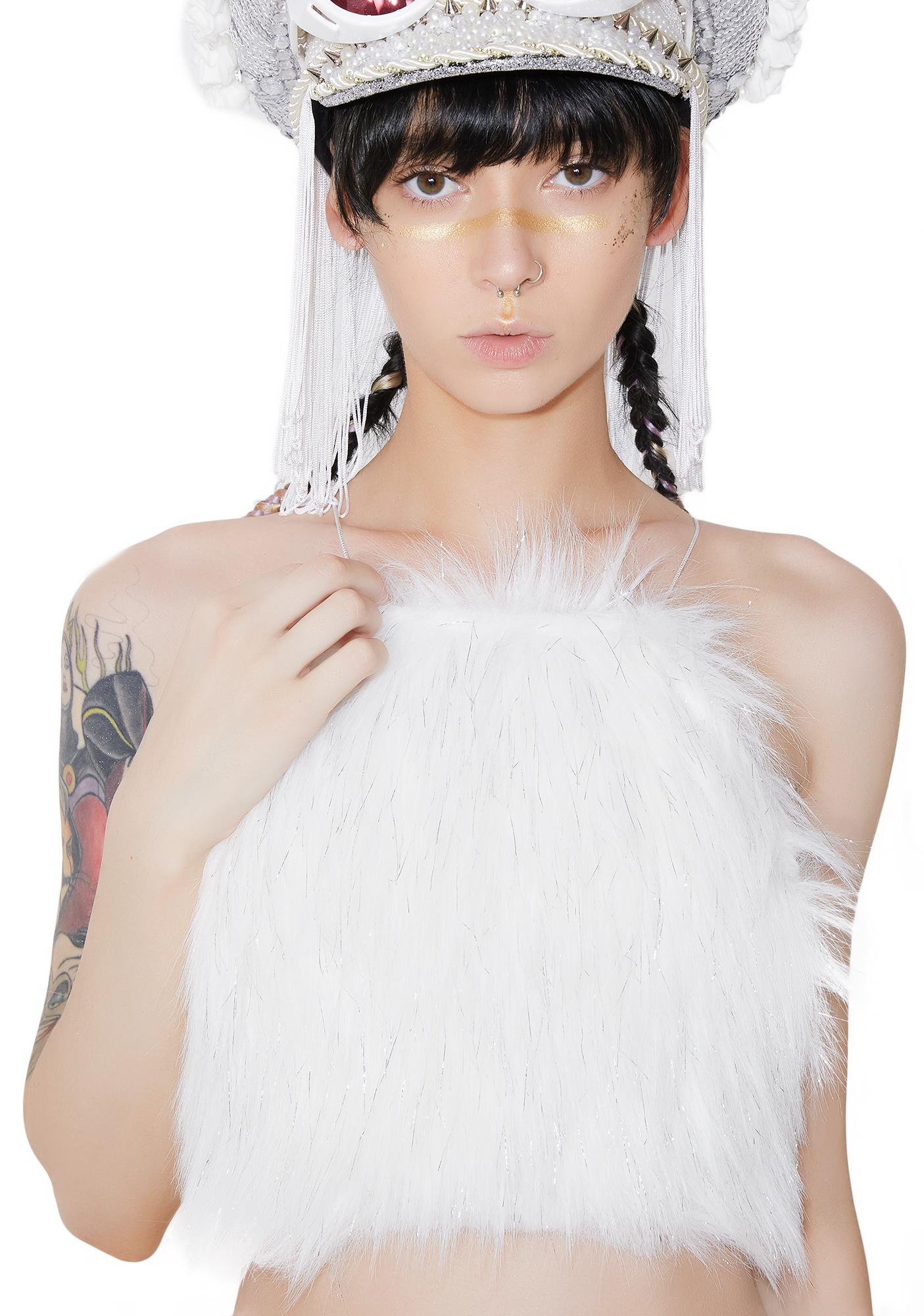 Posso Angelic Fur Baby Crop Top