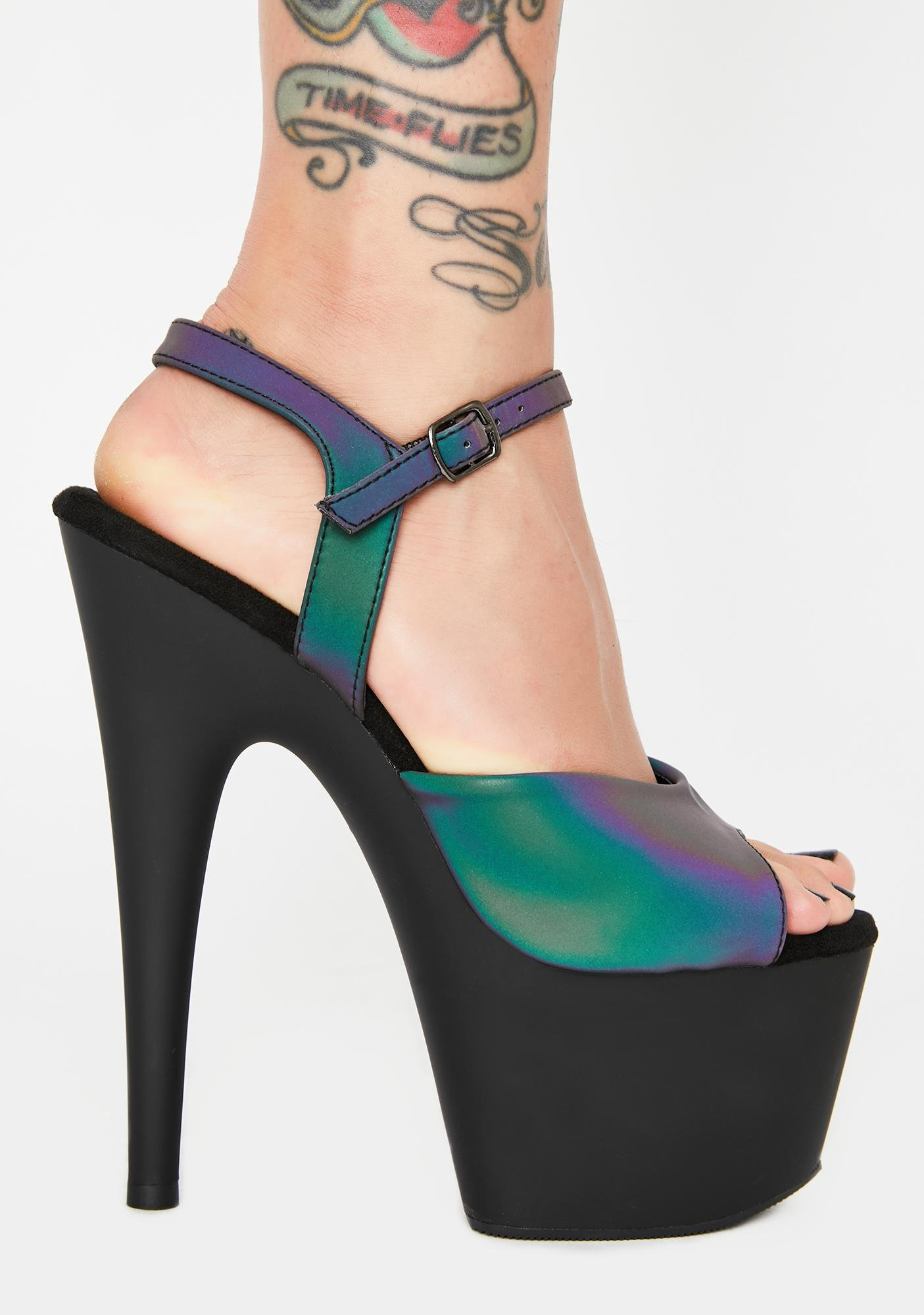 Pleaser Cash Kat Stacks Adore Platform Heels