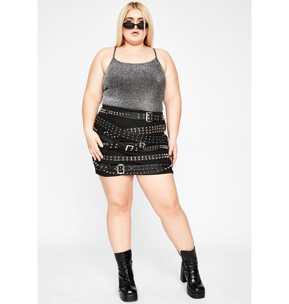 Pewter The Best For Last Glitter Bodysuit