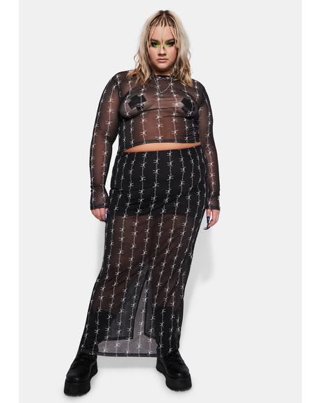 There's No Squares Allowed Barbed Wire Skirt
