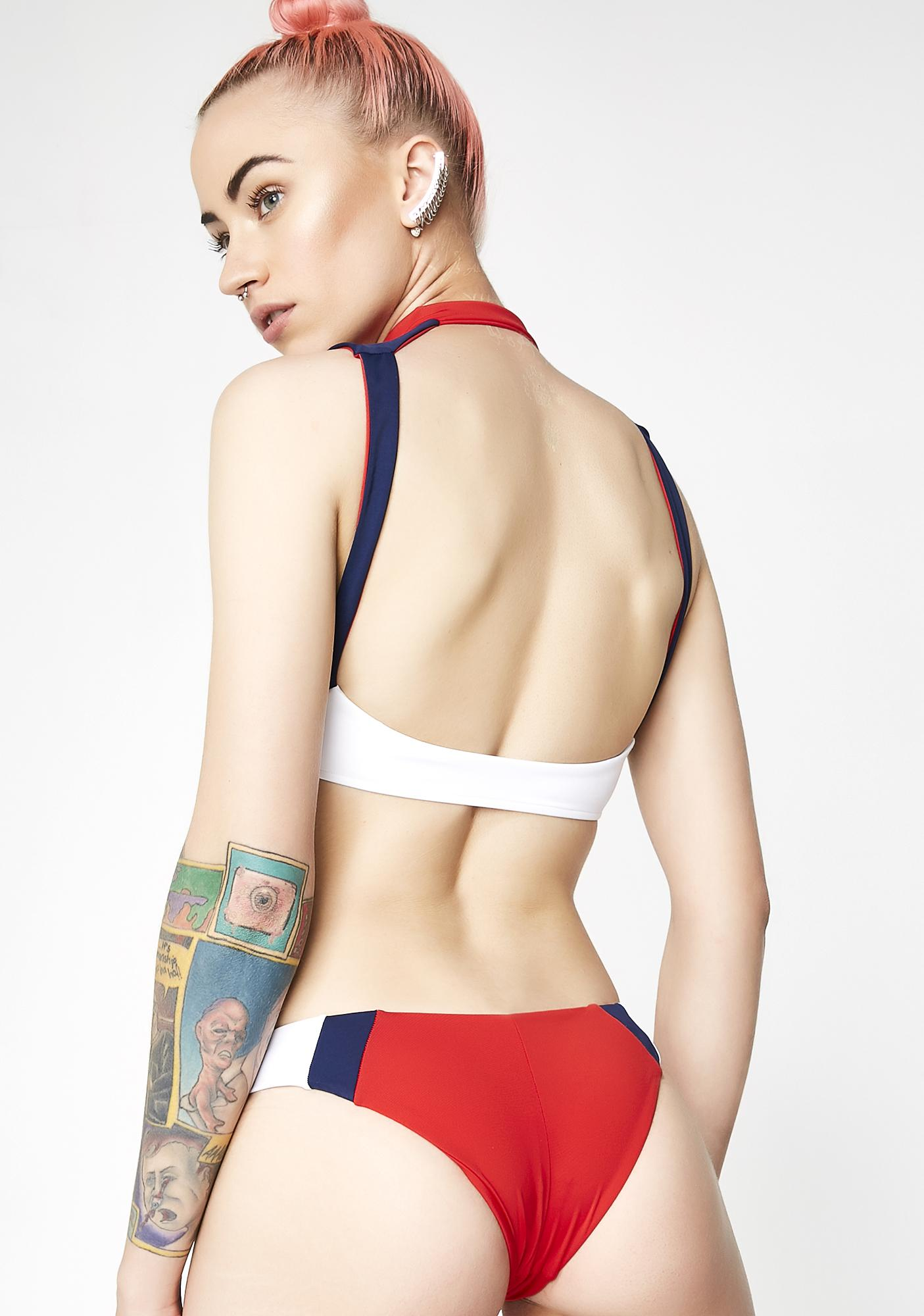 Frankies Bikinis Racer Bikini Bottoms