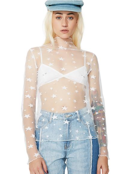 Star Dazed Sheer Top