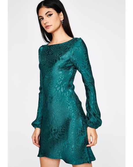 Lush Hush Now Long Sleeve Dress