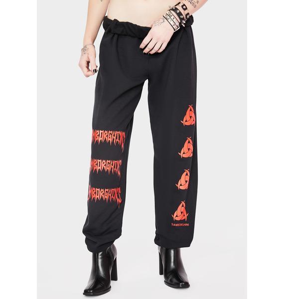 Samborghini Metal Toxic Logo Sweatpants